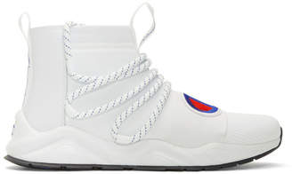Champion Reverse Weave White Rally Hype High-Top Sneakers