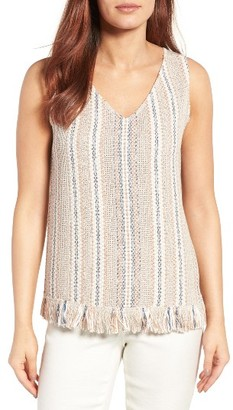Women's Nic+Zoe Orchid Mixed Media Top $138 thestylecure.com