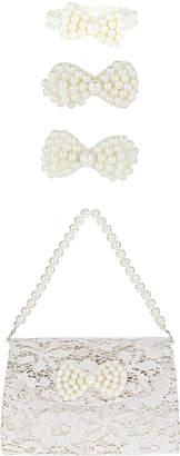 Monsoon Pearl Bow Bag, Clip & Bracelet Set