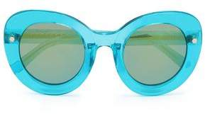 Matthew Williamson Round-Frame Acetate Sunglasses