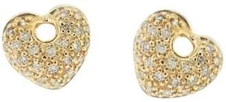 Platinum 950 Fancy Pink Diamond Heart Stud Earring