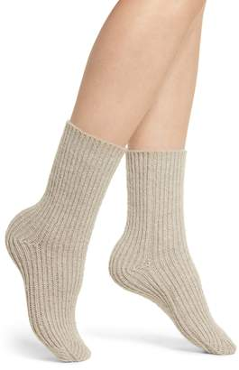 Lemon Ribbed Crew Socks