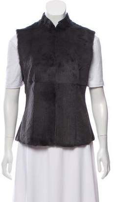 Calvin Klein Collection Fur Lightweight Vest