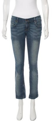 Sandro Mid-Rise Straight-Leg Jeans $70 thestylecure.com
