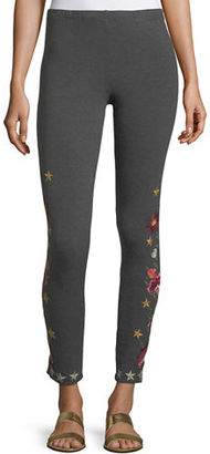Johnny Was Emilia Embroidered Leggings $110 thestylecure.com