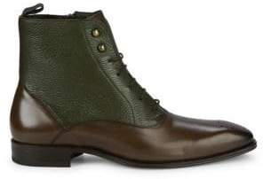 Mezlan Two-Tone Leather Oxford Boots