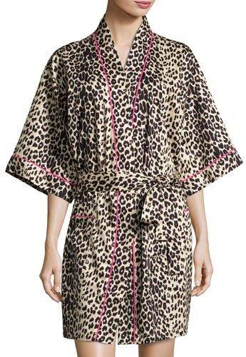 BedHeadBedhead Wild Thing Short Kimono Robe, Leopard