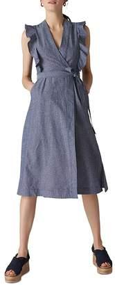 Whistles Misha Chambray Wrap Dress