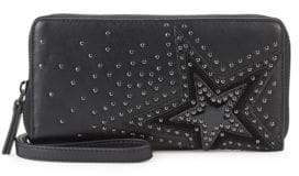 Vince Camuto Studded Leather Continental Wallet