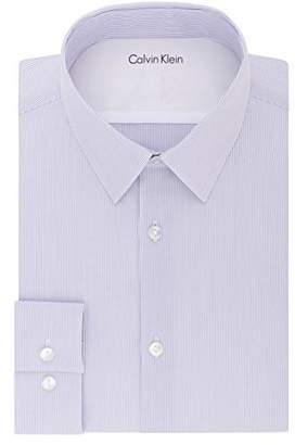 Calvin Klein Men's Thermal Stretch Xtreme Slim Fit Stripe Dress Shirt