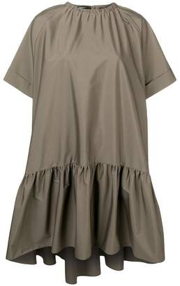 Rochas short sleeved ruched dress