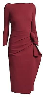 Chiara Boni Women's Zelma Side Ruffle Midi Dress