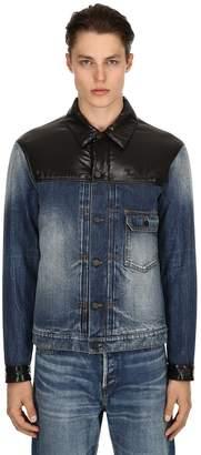 Moncler 7 Fragment Nylon & Denim Jacket