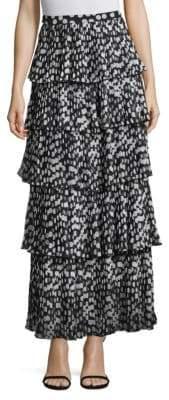 Demi Pleated Polka Dot Skirt