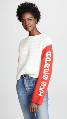 Tory Sport Cropped Apres Ski Sweater