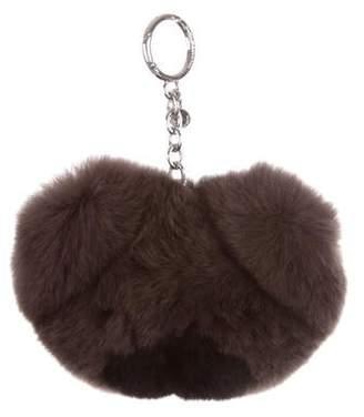 Michael Kors Fur Bear Keychain w/ Tags