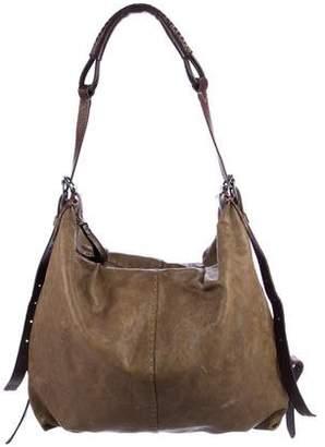 Henry Beguelin Distressed Leather Messenger Crossbody Bag