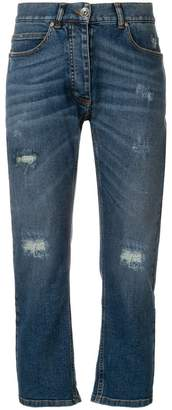 Eleventy distressed straight-leg jeans
