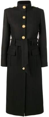 Balmain single breasted coat