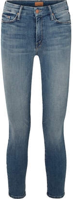 Mother The Looker Cropped High-rise Skinny Jeans - Mid denim