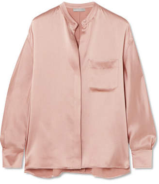 Vince Silk-satin Blouse - Blush