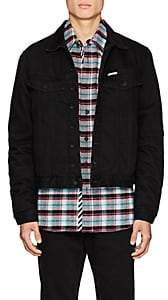 Off-White Men's Logo Insulated Denim Jacket - Black