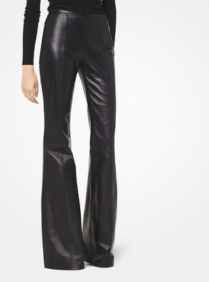 Michael Kors Plonge Leather Flared Pants