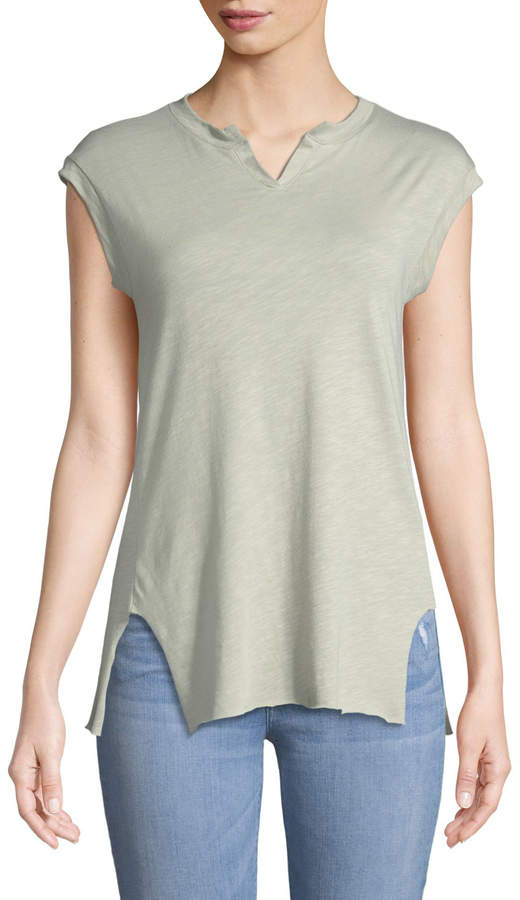 Knit Riot Happy Embroidered Muscle Tee