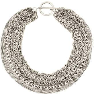 Ann Demeulemeester variety chain necklace