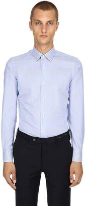 Ermenegildo Zegna Slim Fit Soft Touch Cotton Poplin Shirt