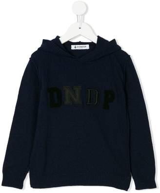 Dondup Kids logo knitted hoodie