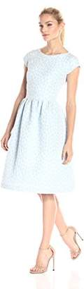 Helene Berman Women's Flower Jacquard Dress