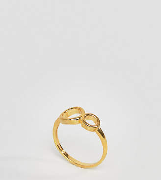 Asos Gold Plated Sterling Silver Double Circle Ring