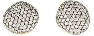H.Stern 18K Diamond Golden Stones Earclips