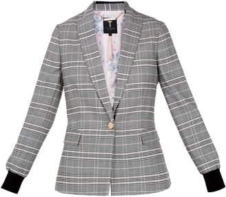 Ted Baker Kimm Contrast Cuff Check Blazer