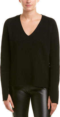 Helmut Lang Lace-Up Sleeves Wool & Cashmere-Blend Sweater