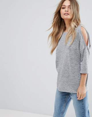 New Look Cutout Jersey Top