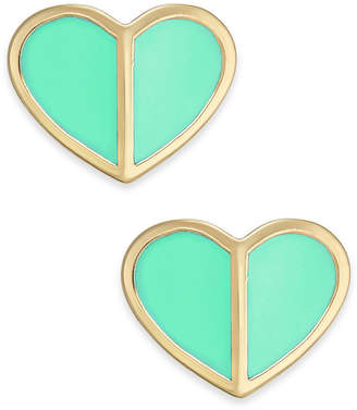 Kate Spade Gold-Tone Heart Stud Earrings