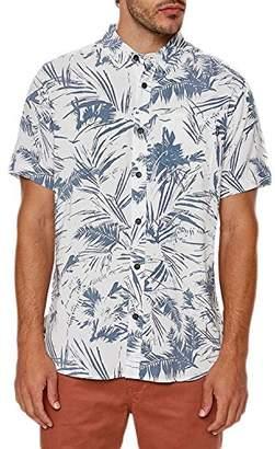 O'Neill Men's Ascher Modern Fit Short Sleeve Woven Shirt