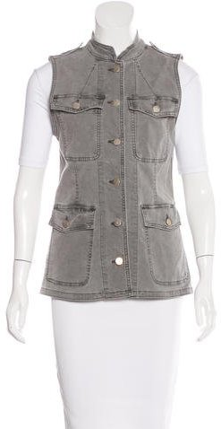 J Brand J Brand Acid Wash Button-Up Vest w/ Tags