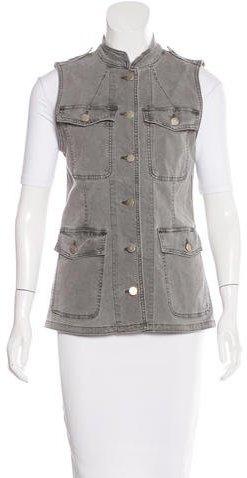 J BrandJ Brand Acid Wash Button-Up Vest w/ Tags