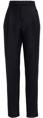 Valentino Wool And Silk-Blend Straight-Leg Pants