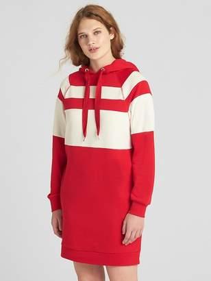 Gap Stripe Raglan Sleeve Hoodie Sweatshirt Dress
