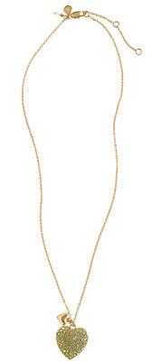 J.Crew Girls' pavé double heart necklace