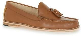 Topman Mens Brown Tan Leather Tassel Loafers