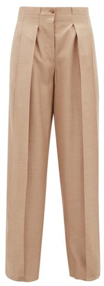 Giuliva Heritage Collection The Bernado Silk Blend Twill Trousers - Womens - Beige