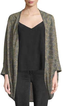 M Missoni Metallic Zigzag Cape Cardigan