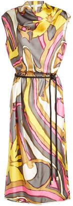 Marc Jacobs Draped Cowl Neck Silk Dress