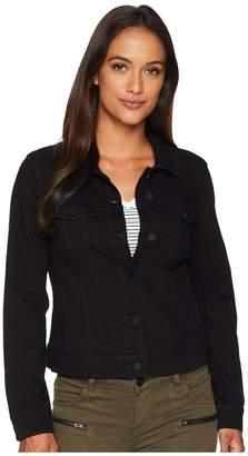 Liverpool Petite Classic Denim Jacket in Powerflex Knit Denim Women's Coat