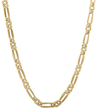 Tag Heuer FINE JEWELLERY 14k Yellow Gold Double Link Circle and Oval Necklace